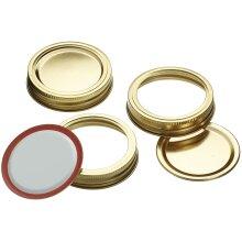 Kitchen Craft 12 Pack 7cm Jar Lids Spare New Screw Bands and Seal Lids For Kilner & Preserve Storage Jars