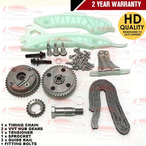 FOR CITROEN C3 C4 DS3 DS4 1.6 VTi THP 95 120 TIMING CHAIN KIT + VVT HUB GEARS