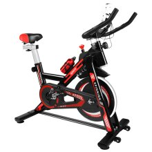 Ultra-Quiet Resistance Spin Bike With LCD Monitor   Stationary Exercise Bike
