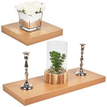 Wooden Beech MDF Floating Shelves Wall Hanging