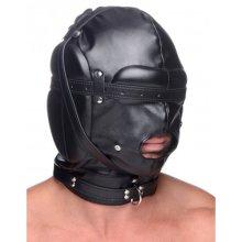 Bondage Hood with Breathable Ball Gag  BDSM Masks - Strict