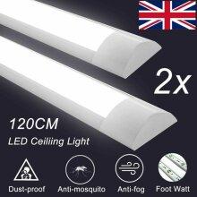 2PCS 4FT LED Batten Tube Light For Garage Workshop Ceiling Panel