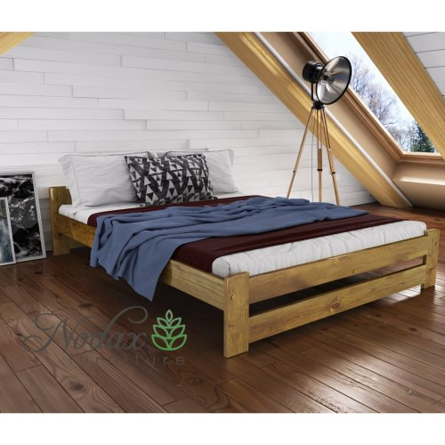 New Solid Wooden Pine Double Bed Frame&Slats - F3