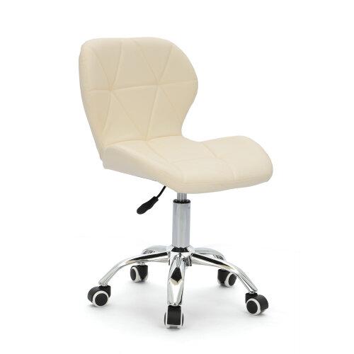 (White) Adjustable Computer Desk Lift Swivel  Office Chair