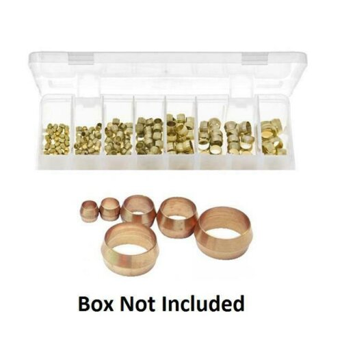 10 x 5mm Brass Olive Barrel Plumbing Compression Fitting Olives Water Pipe Gas - brass olive barrel 5mm