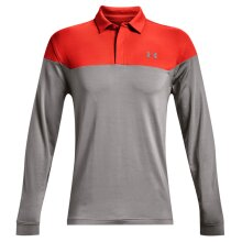 Under Armour Mens 2021 Long Sleeve Playoff Novelty Wicking Golf Polo Shirt
