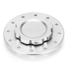 Billet Aluminum Easy Fill Fuel Cell Gas Cap with 12 Hole Cell Bung