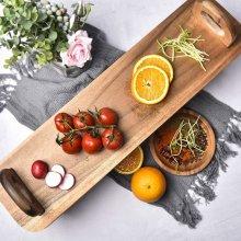 Acacia Wood Serving Platter Raised Serving Board Antipasti, Tapas, Desserts Etc