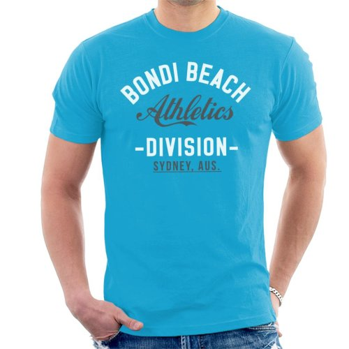 (Small, Sapphire) Bondi Beach Athletics Division Men's T-Shirt