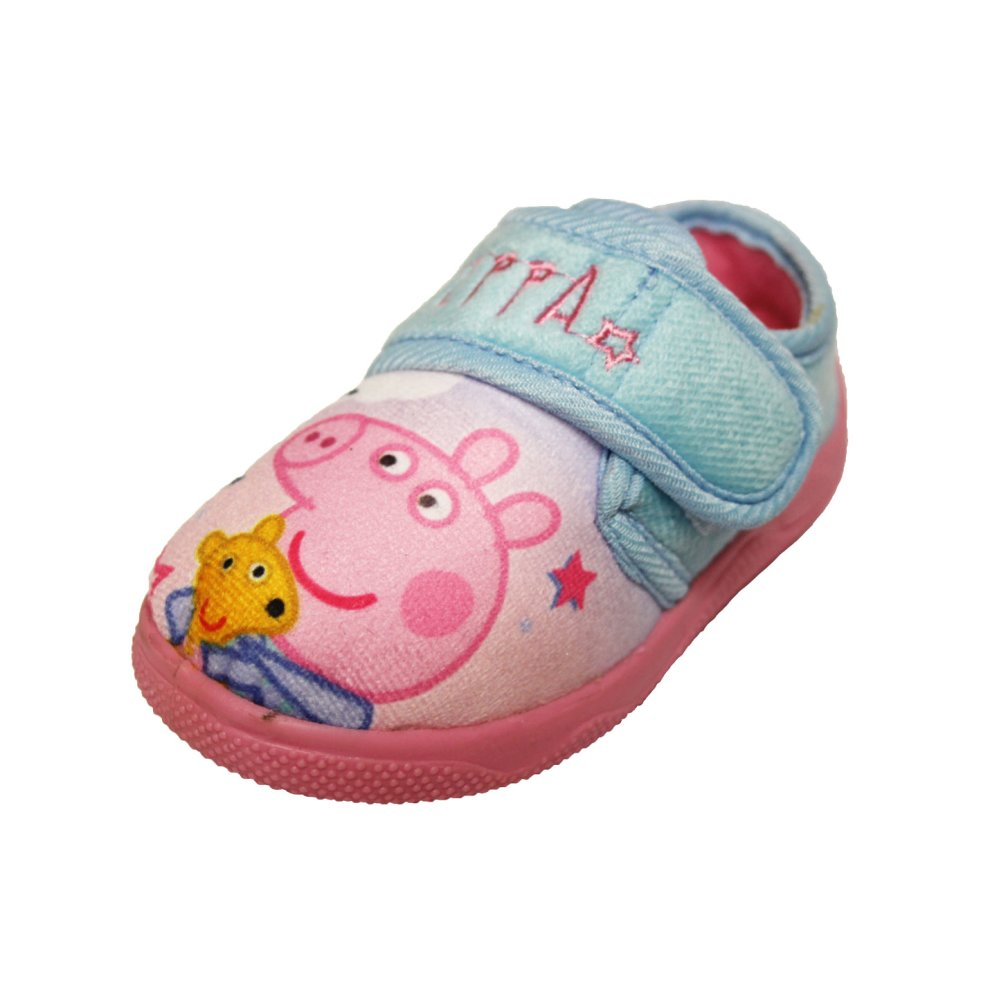 Peppa Pig Pink Slippers Touch Fastening for Secure Fit