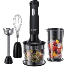 Russell Hobbs 24702 Desire 3 in 1 Hand Blender with Electric Whisk and Vegetable Chopper Attachments Matte Black