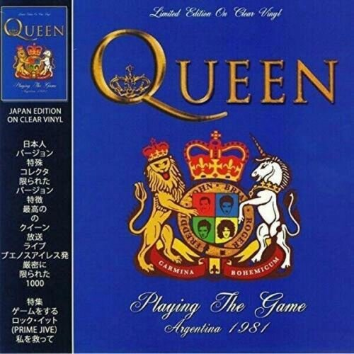 Queen ‎– Playing The Game - Argentina 1981 LTD Edition Clear Vinyl