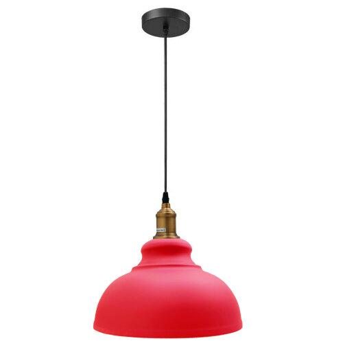 (Red Color Shade) Pendant Light Lampshade Loft Metal Hanging Light