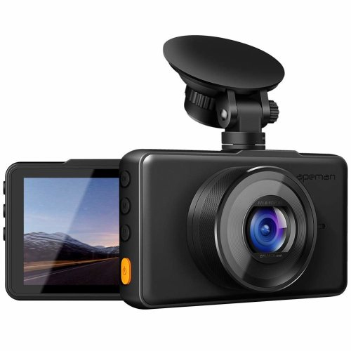 """apeman In Car Dash Cam 1080P FHD DVR Car Driving Recorder 3"""" LCD Screen 170°Wide Angle, G-sensor, WDR, Parking Monitor, Loop Recording, Motion..."""