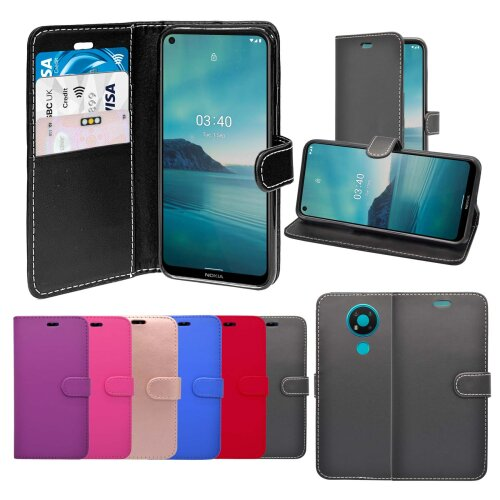 For Nokia 3.4 Wallet Flip PU Leather Pouch Case Cover