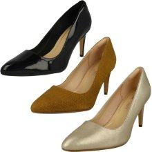 Ladies Clarks Heeled Court Shoes Laina Rae - D Fit