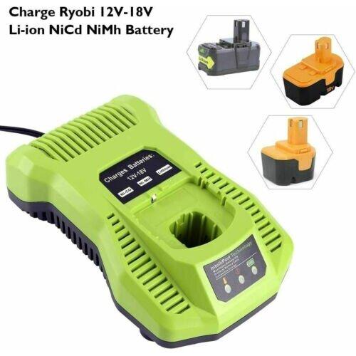 Rapid Battery Charger For RYOBI 12V-18V LXT Li-ion Power P117 6.0Ah