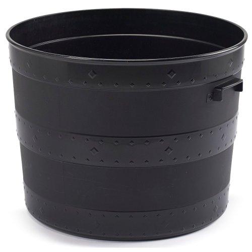 Whitefurzee Blacksmith Tub Planter Black Plastic Plant Pot Barrel Planter 24 Litre or 102 Litre (24 Litre)