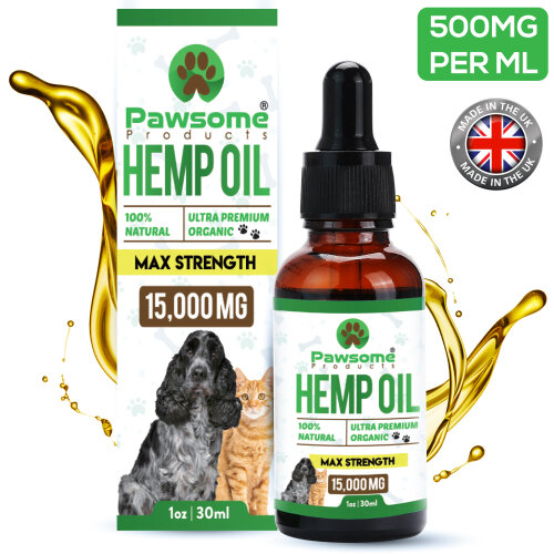 Hemp Oil for Pets, Natural | Organic | Made in UK | Tested & Certified