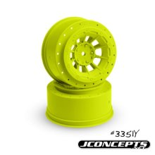 J Concepts JCO3351Y Hazard - Slash Rear, Slash F&R Wheel - Yellow - 4 x 4 - 2 Piece