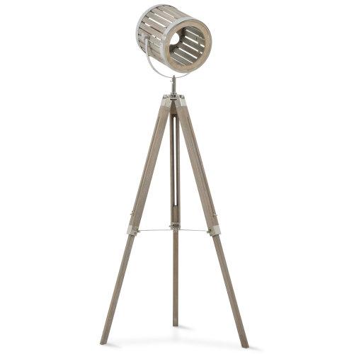 HOMCOM Telescopic Floor Lamp Unique Wood Frame Adjustable Shade Height Unique