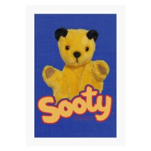 Sooty With Classic Logo A4 Print