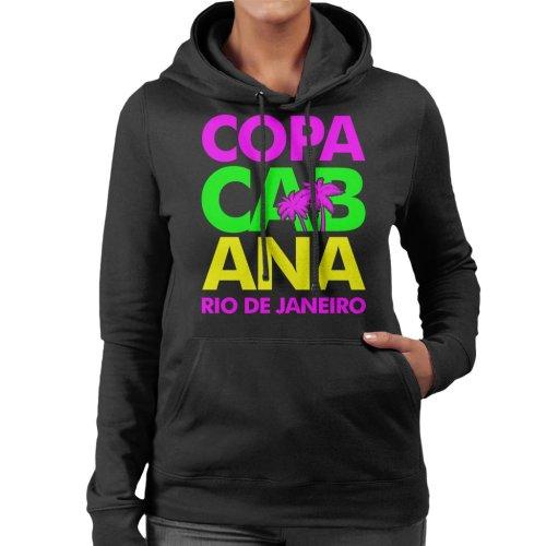 Copacabana Neon Lettering Women's Hooded Sweatshirt
