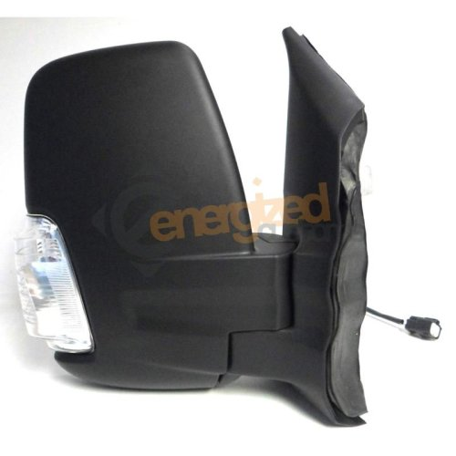 Ford Transit Mk8 (2014 On) Black Manual Short Arm Wing Door Mirror Drivers Side