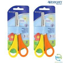2 Pairs LEFT HANDED Children's Scissors SAFETY School Children Kids WESTCOTT NEW