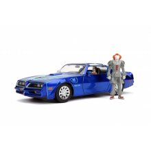 Pontiac Firebird Diecast Model Car with Pennywise Figure from It...