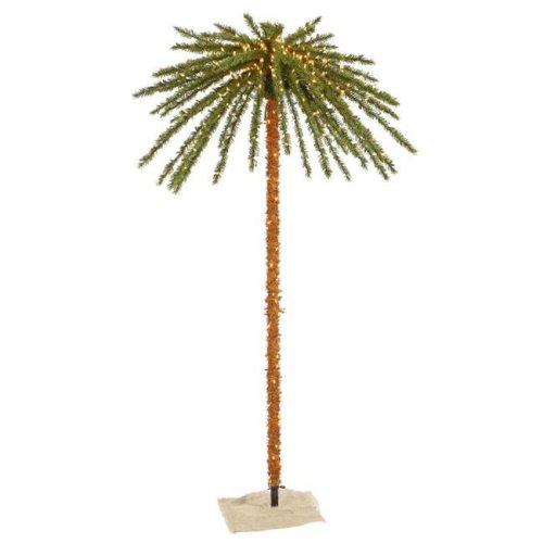 Vickerman K169171 Outdoor Tree Dura-Lit Christmas Palm with Clear Lights - 7 ft.
