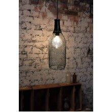 GEEZY Solar LED Filament Light Bottle Shape Lamp Hanging Outdoor Garden Warm White