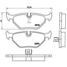 Rear Brake Pad Set BREMBO P 06 011