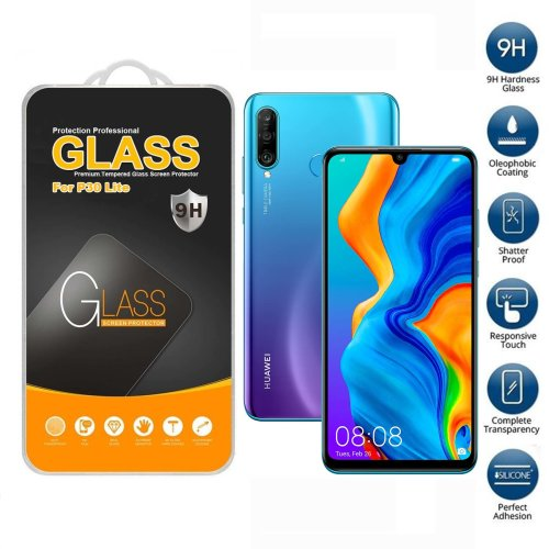 Screen Protector Tempered Glass For Huawei P30 Lite