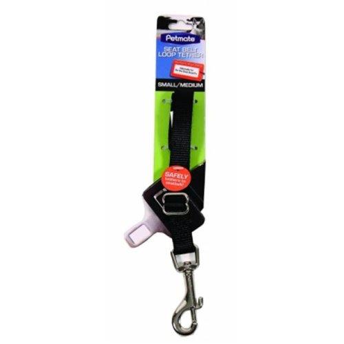 Petmate Seat Belt Loop Tether For Dogs Small-Medium Black 11482