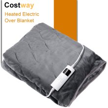 Electric Heated Over Throw Blanket Washable Monitor Warm Mattress