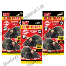6 X EXTRA STRENGTH LARGE Rat Mouse Sticky Pads Glue Traps Boards