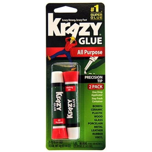 4 x 12 in. 2G All Purpose Krazy Glue, 2 Count