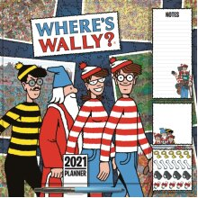 Wheres Wally Household Square Wall Planner Calendar 2021