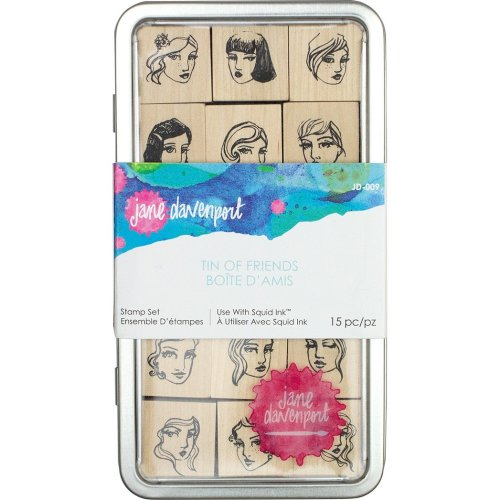 Jane Davenport Artomology Stamp Tin Set-Tin Of Friends