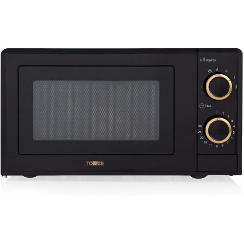 Tower T24029RG Manual Solo Microwave 700W, 17L, Black/Rose Gold