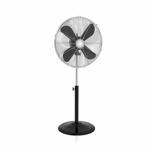 Swan Black Retro 16 Inch 50W Pedestal Stand Oscillating Fan with 3 Speed Settings & Low Noise Levels