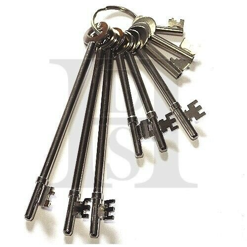 FB Fire Brigade Keys - FB Keys Set Of 9 - One Of  Each Version - Made In The UK