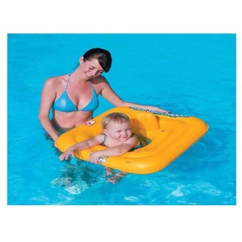 """BESTWAY SWIMMING SEAT RING 27/"""" KIDS INFLATABLE BABY SWIM SAFE SUPPORT STEP A"""