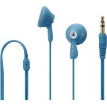 Logik Gelly LGELBLU16 Wired In-Ear Headphones Blue With Nickel-Plated 3.5mm Jack - Refurbished