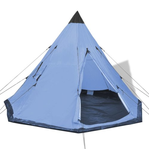 vidaXL 4 Person Tent With Windows   Tipi Teepee 4 Person Tent