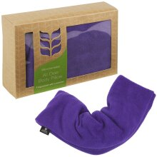 Relaxing Purple Heated Microwavable Wheat All Over Body Pillow With Lavender