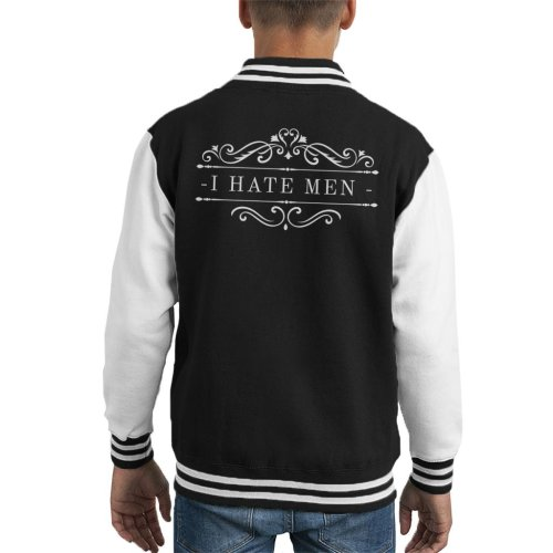 Anti Male I Hate Men Logo Kid's Varsity Jacket