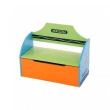 Oypla Childrens Wooden Crayon Toy Storage Unit Box Bench Seat