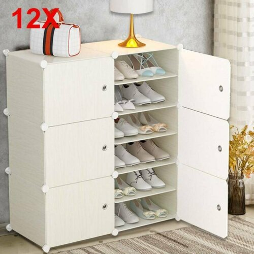12 Multi-function Modern Shoe Cabinet  DIY Shoe Bookcase Storage